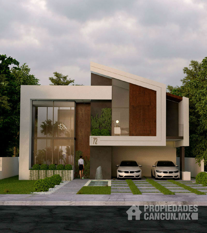 fachada casa residencial lagos del sol cancun flako72